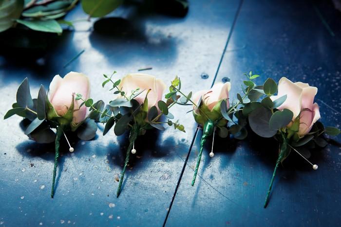 Sweet avalanche and eucalyptus buttonholes - Nikki Sheffield Photography